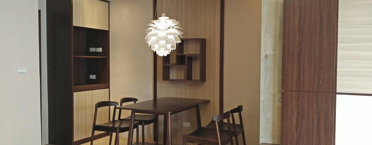 內湖人文氣質公寓:  餐廳 by 以恩設計
