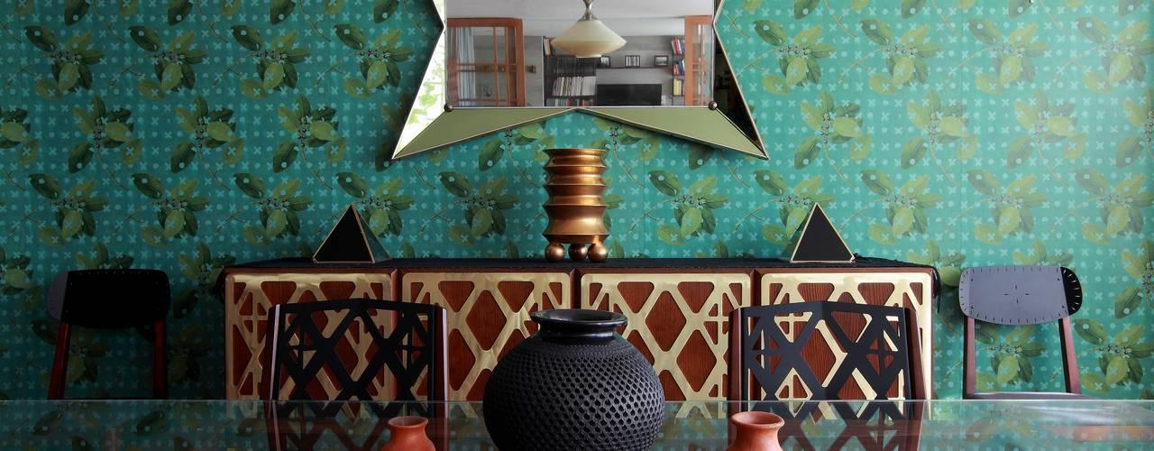 Remodelación departamento México D.F. .- Parque México All Arquitectura Comedores tropicales