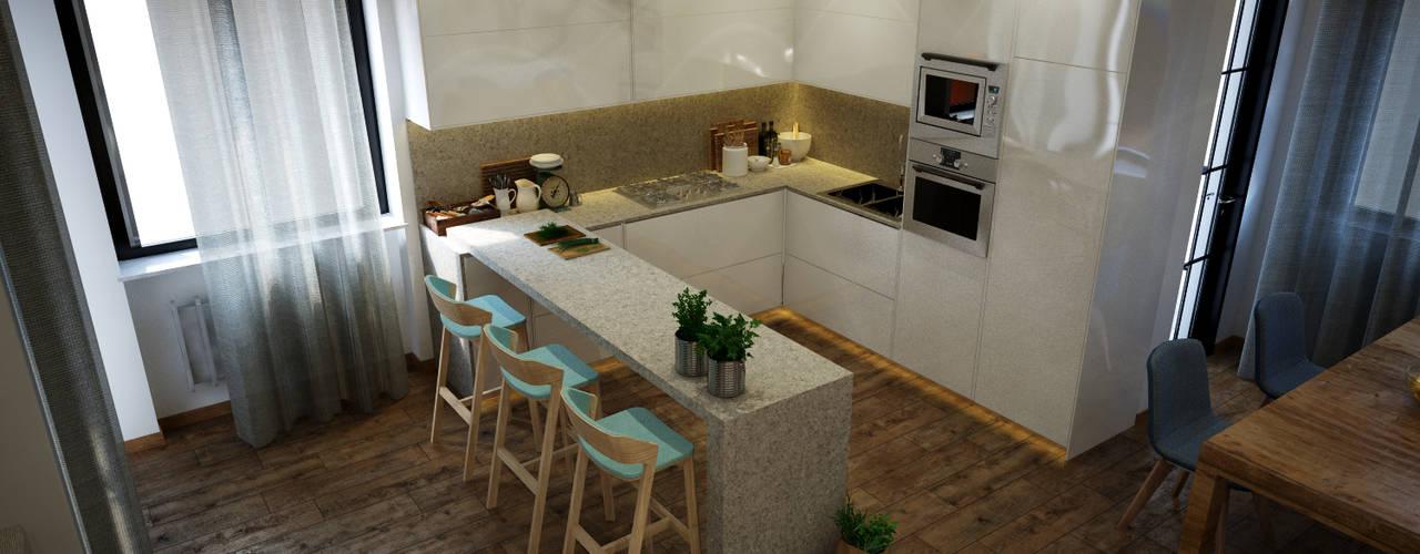 Cocinas de estilo moderno por Toolboxstudio