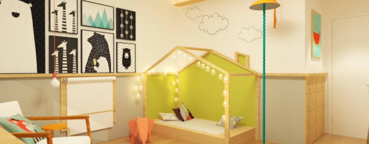 Dormitorios infantiles de estilo  por Macro Arquitetos
