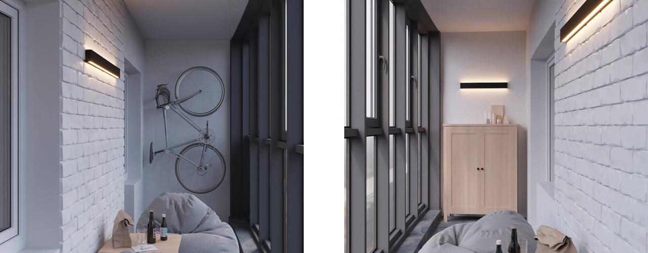 Loft_INT Балкон и веранда в стиле лофт от Anastasya Avvakumova Лофт