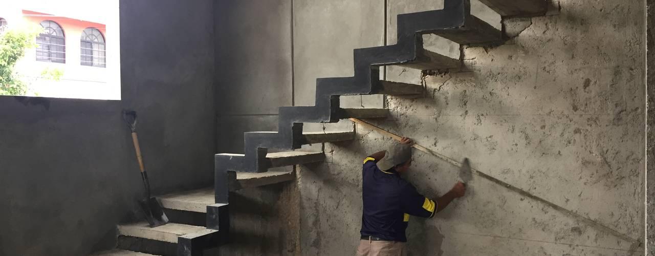 Minimalist corridor, hallway & stairs by Ma&Co Minimalist