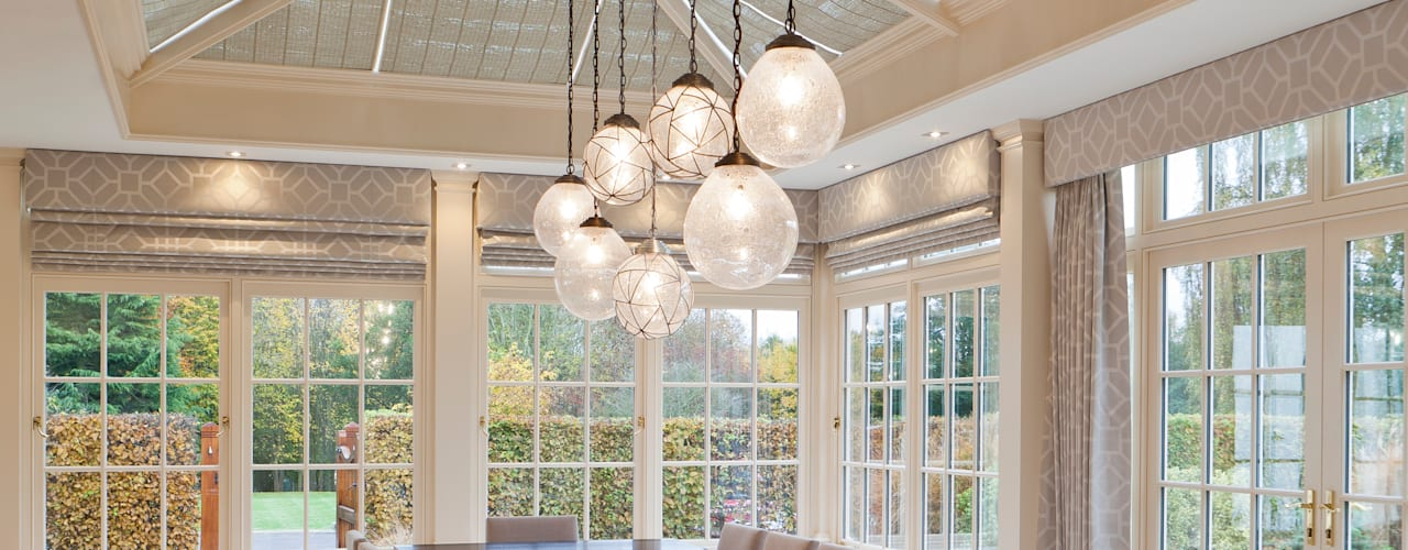 Georgian Orangery opens up the kitchen to include dining space by Vale Garden Houses Modern