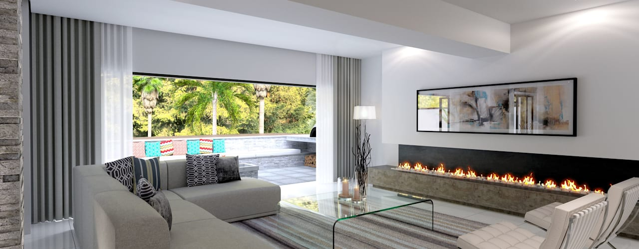 House St Andrews Modern living room by Principia Design Modern