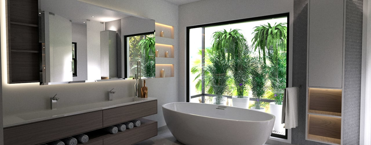 Modern style bathrooms by Principia Design Modern