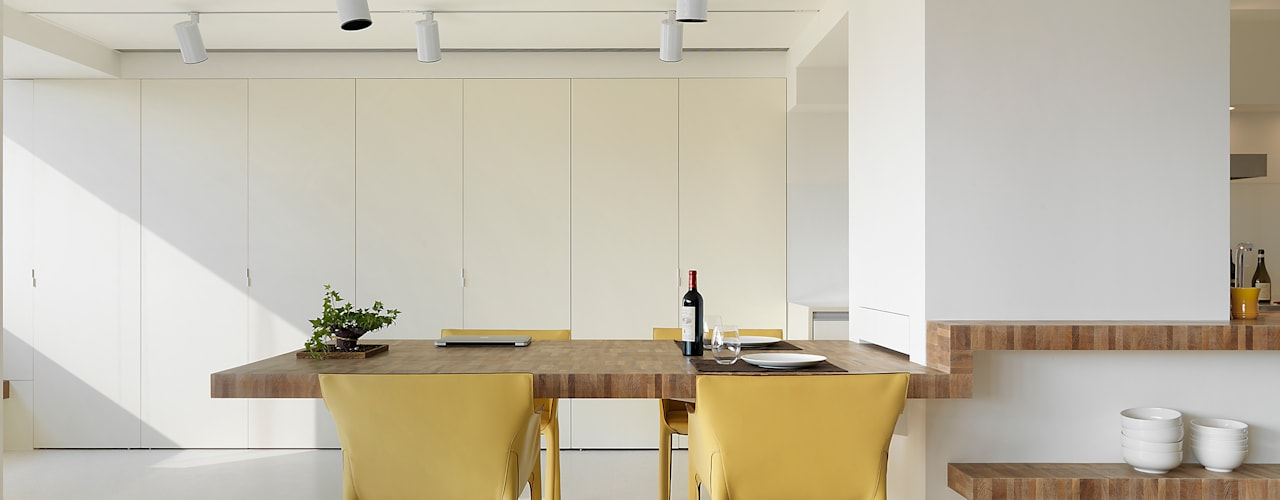 Salle à manger minimaliste par 何侯設計 Ho + Hou Studio Architects Minimaliste