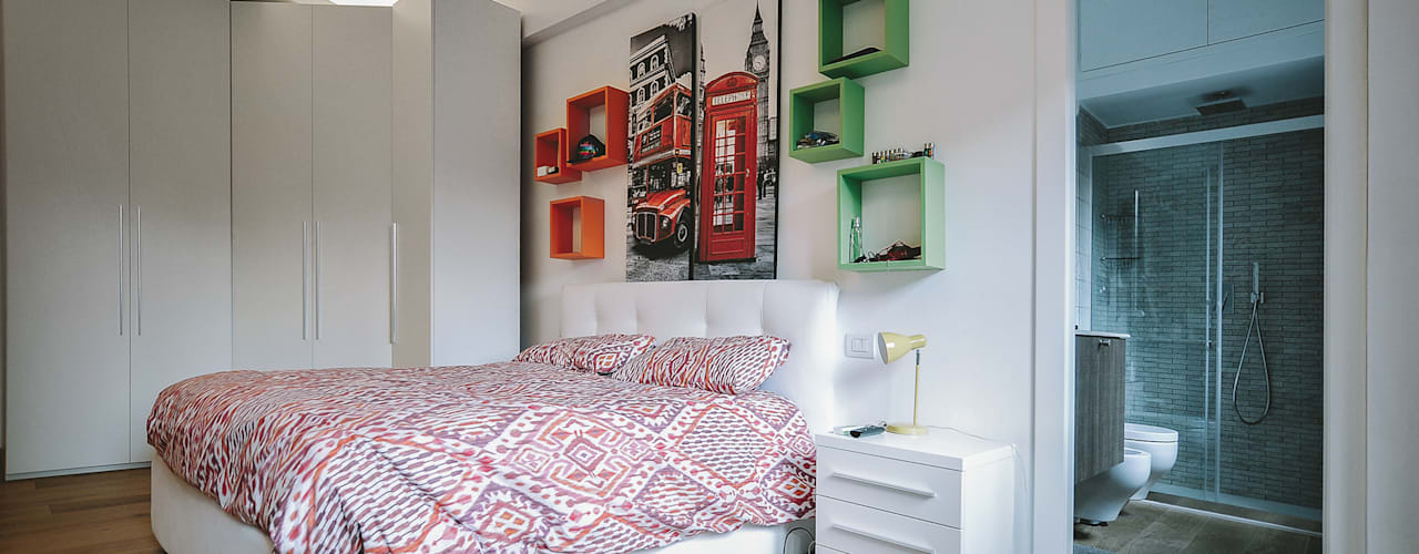 Bedroom by piano a, Modern