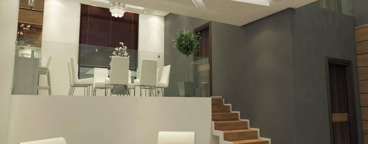 غرفة المعيشة تنفيذ Mazpro Arquitectura