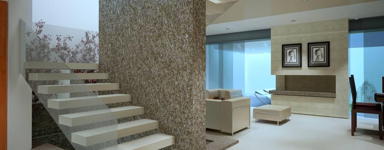 Modern corridor, hallway & stairs by CouturierStudio Modern