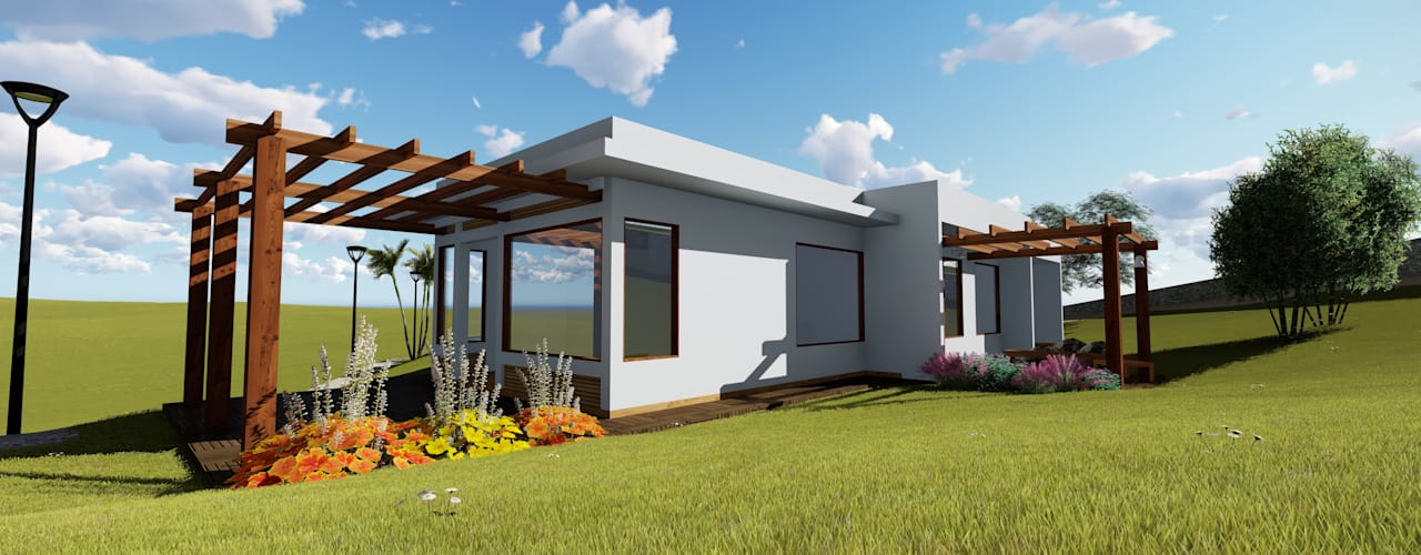 Casas de estilo  por Numen - Arquitetura e Urbanismo