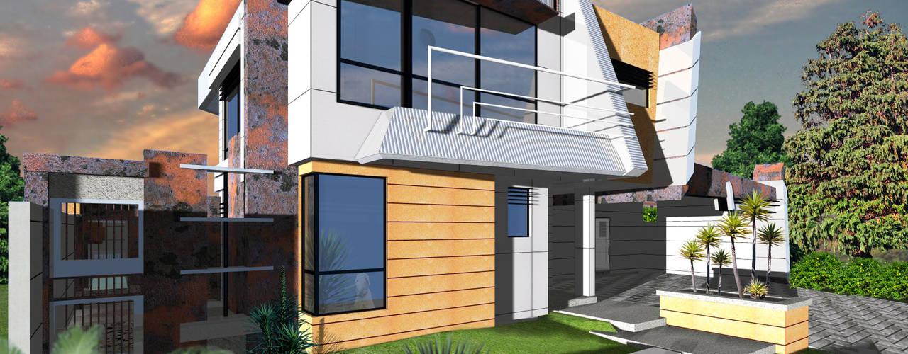 Vivienda unifamiliar V12.: Casas de estilo  por Eisen Arquitecto