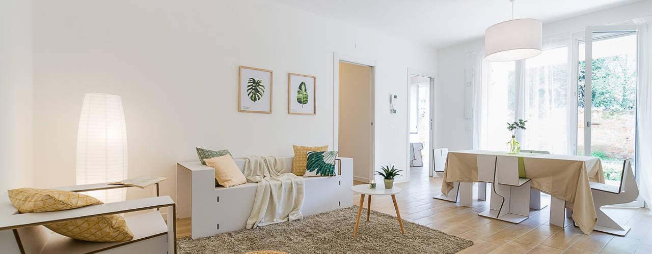 Salas de estilo  por Home Staging & Dintorni            , Escandinavo