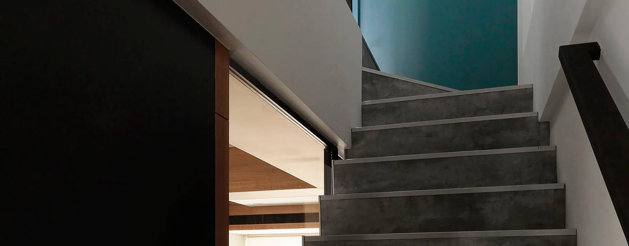 竹風低吟 現代風玄關、走廊與階梯 根據 白金里居 空間設計 現代風