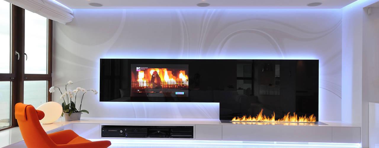 Livings de estilo clásico de Clearfire - Lareiras Etanol Clásico