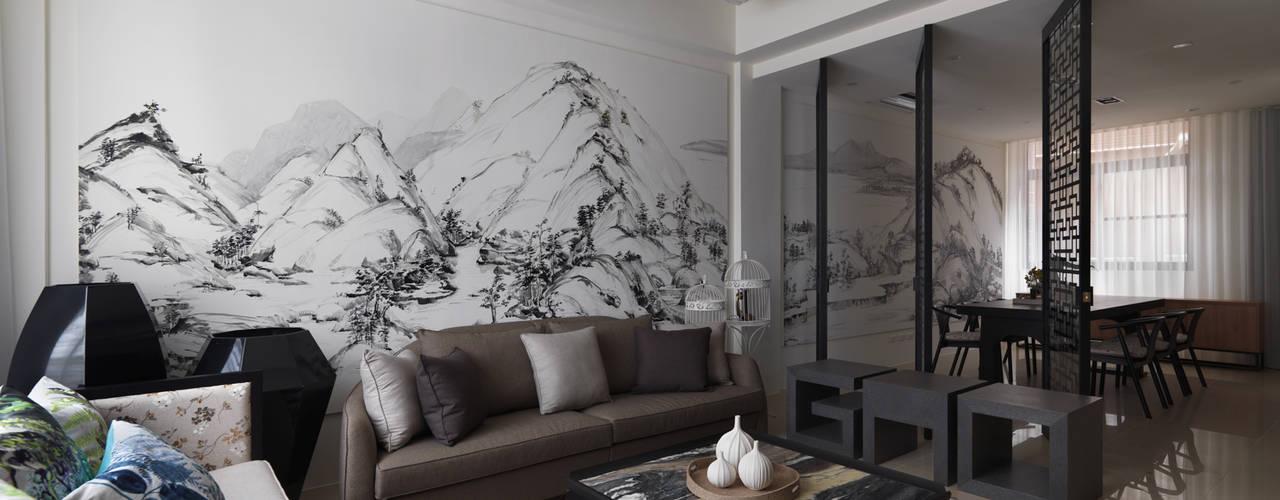 富「村」山居Dwelling in the Fuchun Mountains Glocal Architecture Office (G.A.O) 吳宗憲建築師事務所/安藤國際室內裝修工程有限公司 客廳