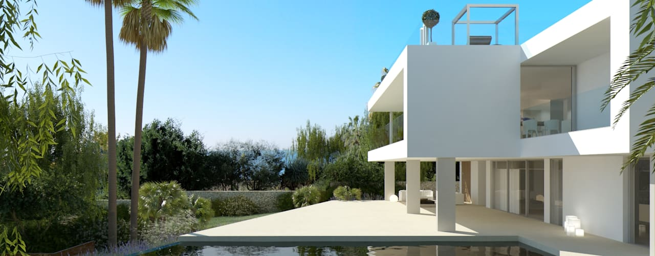 Refurbishment of existing house and pool in Santa Ponsa:  Pool by Tono Vila Architecture & Design