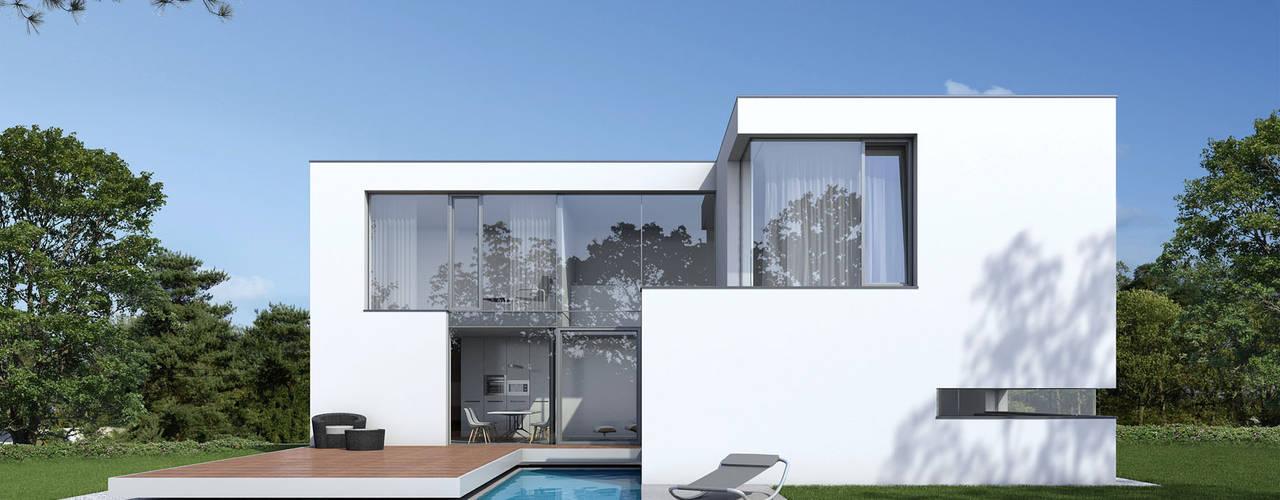Einfamilienwohnhaus in Hannover Moderne Häuser von Fichtner Gruber Architekten Modern