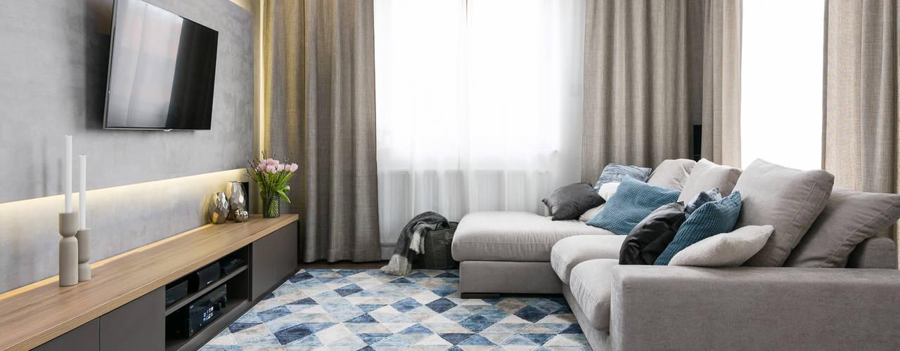Apartamnet Dąbie Moderne Wohnzimmer von Q2Design Modern