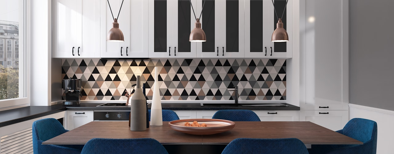 Cocinas de estilo escandinavo de Осейко Алексей и Виктория Escandinavo