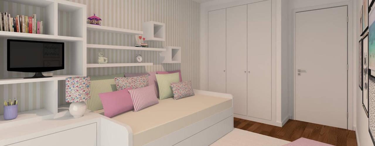Projekty,  Pokój dziecięcy zaprojektowane przez Ana Andrade - Design de Interiores