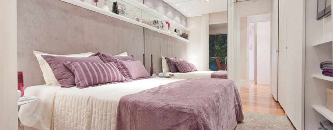 Dormitorios de estilo  por LA Interiores
