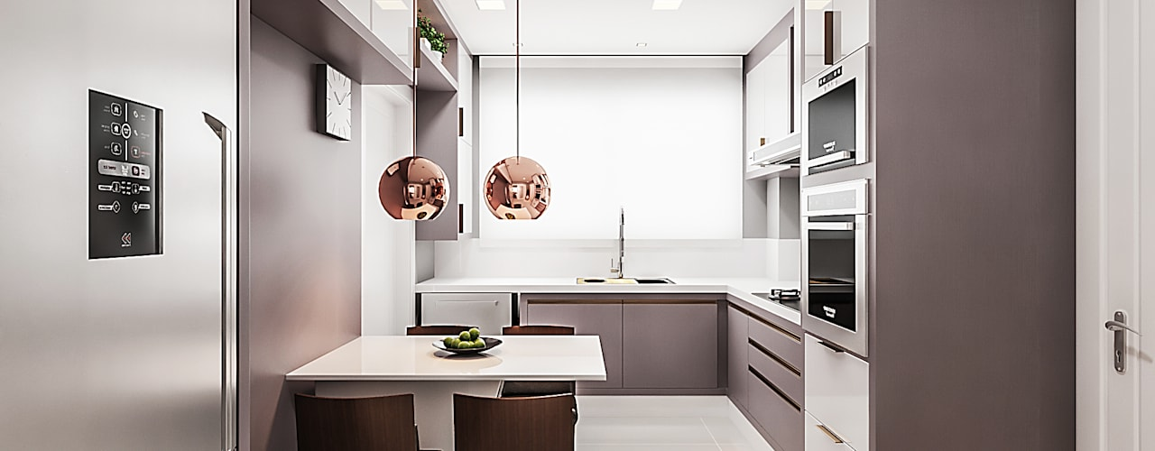 Moderne Küchen von Flávia Kloss Arquitetura de Interiores Modern