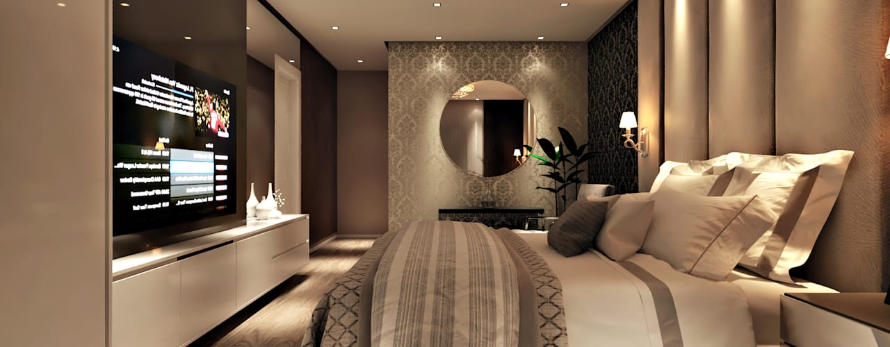 Modern style bedroom by Flávia Kloss Arquitetura de Interiores Modern