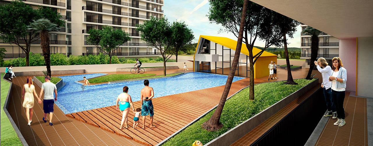 Casas estilo moderno: ideas, arquitectura e imágenes de MC Arquitectos Moderno