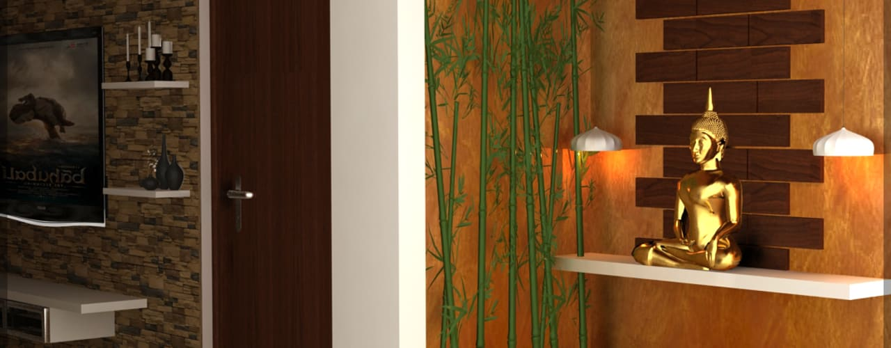 Mr. Praveen. Modern corridor, hallway & stairs by Insign Modern