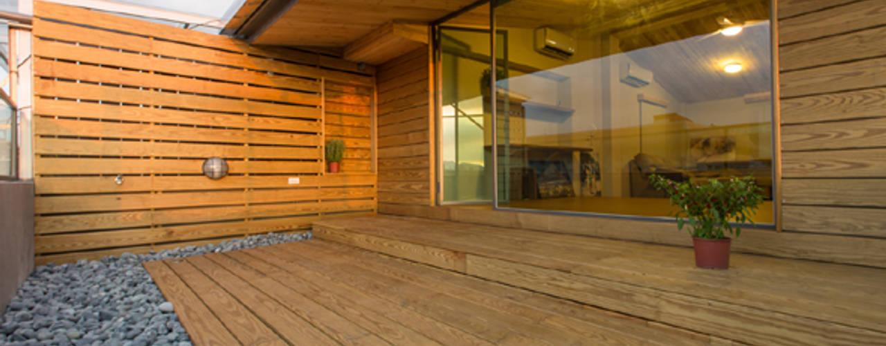 民宿的夢-改造頂樓老公寓 根據 果仁室內裝修設計有限公司 簡約風