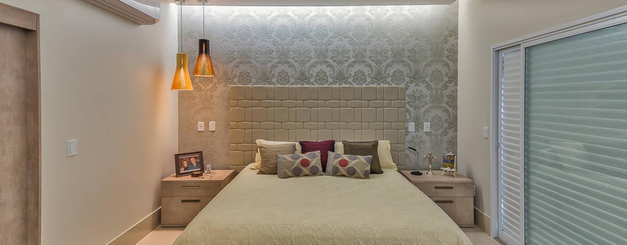 Projekty,  Sypialnia zaprojektowane przez 360+ arquitetura e interiores