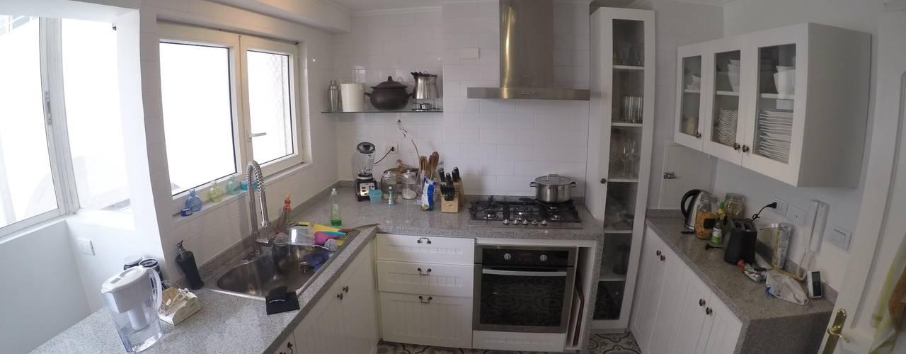 Remodelación Departamento vivienda Cocinas de estilo ecléctico de Construcción y Arquitectura Sustentable Spa. Ecléctico