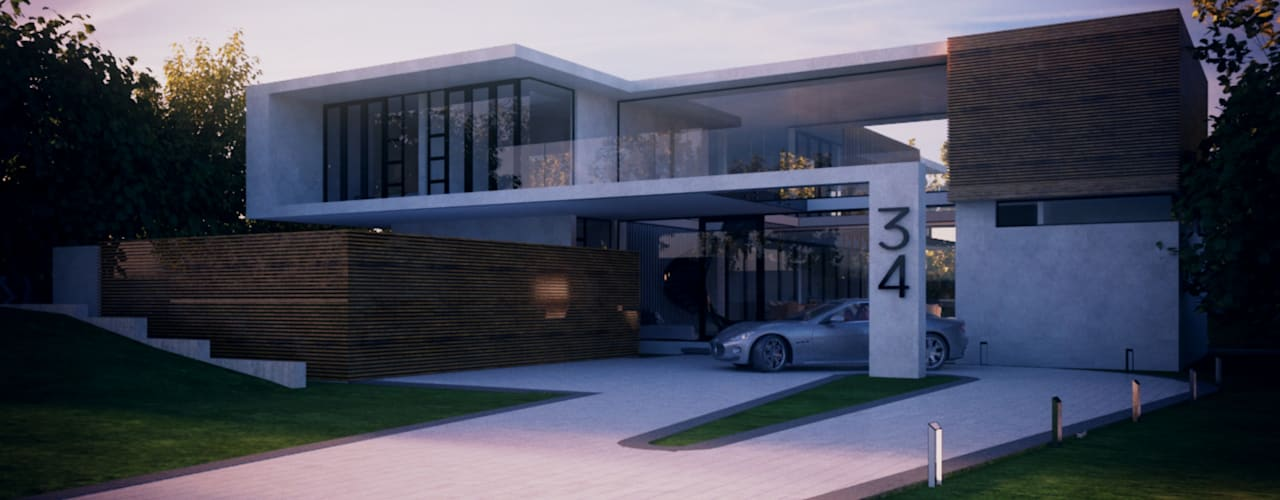House 34 - Waterkloof Boulevard:  Houses by Eclipse Architects,