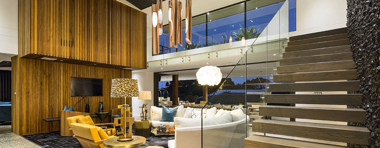 House Umhlanga:  Living room by Ferguson Architects, Modern