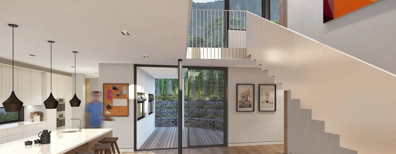 Oranjezicht House #02:  Kitchen by Kunst Architecture & Interiors