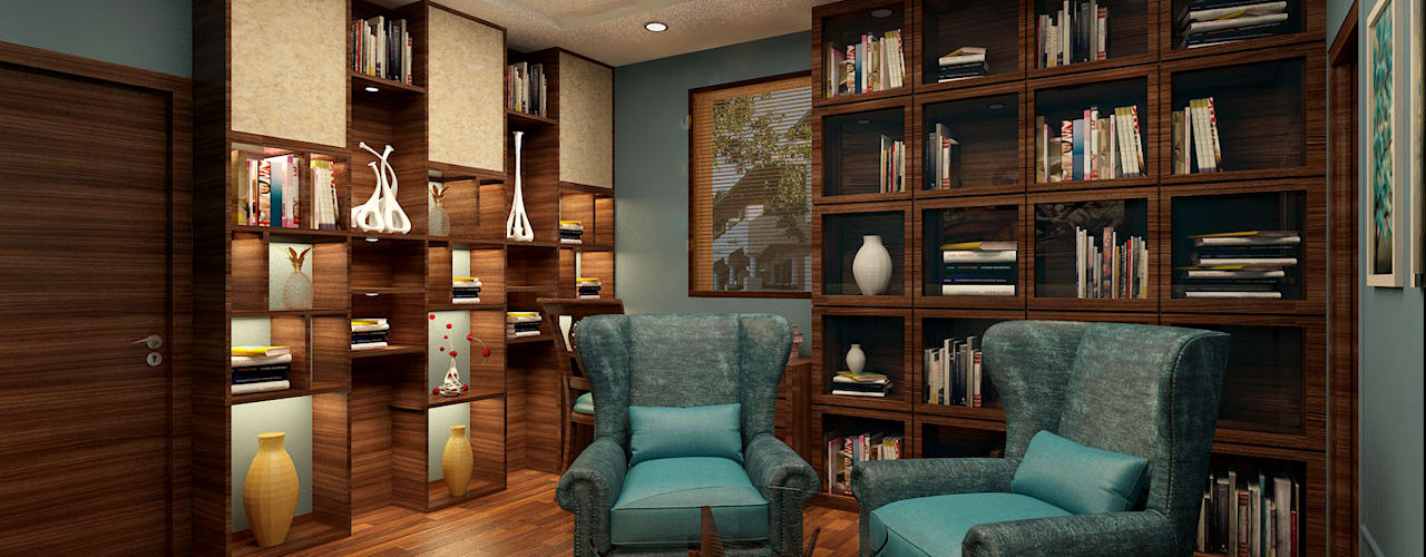STUDY ROOM - VIEW 1:  Study/office by MAD DESIGN