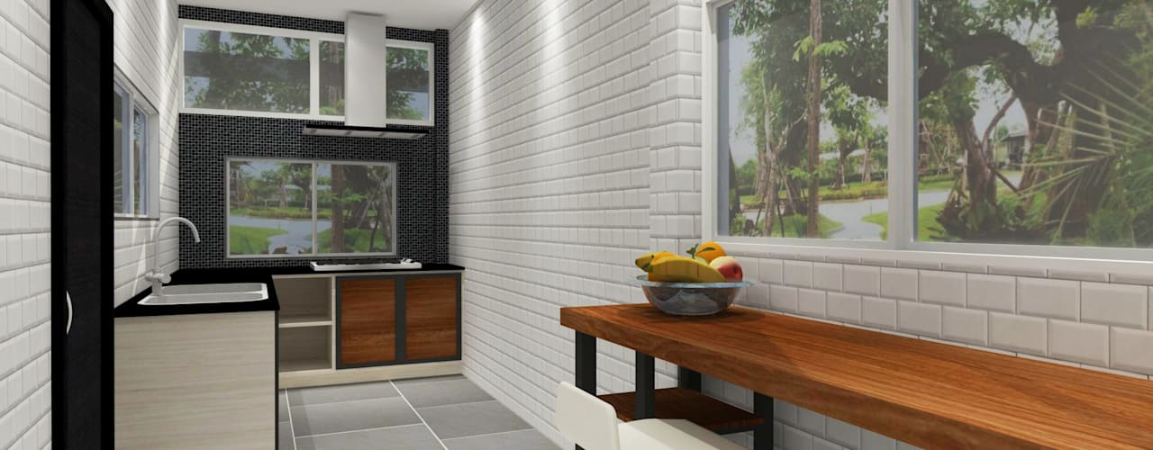 Kitchen 3D Design:  ห้องครัว by SIAMTAK CO., LTD.