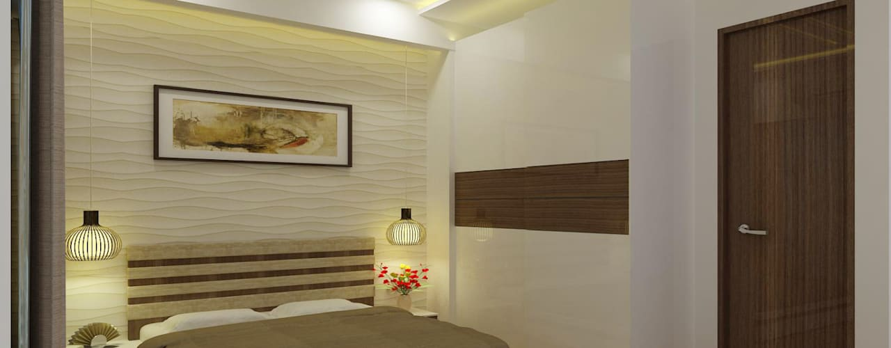 Residence at Mumbai Modern style bedroom by A Design Studio Modern