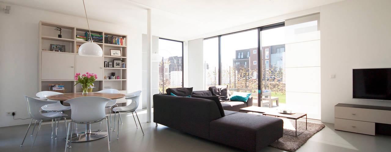 8A Architecten Living room Concrete Beige