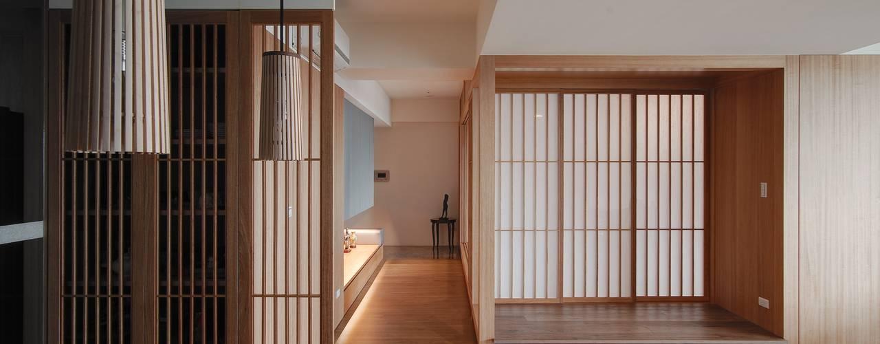 北投陳宅 亞洲風玄關、階梯與走廊 根據 直方設計有限公司 日式風、東方風