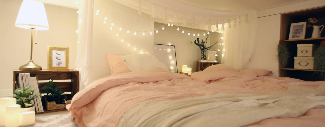 Phòng ngủ phong cách hiện đại bởi 노르딕앤 Hiện đại
