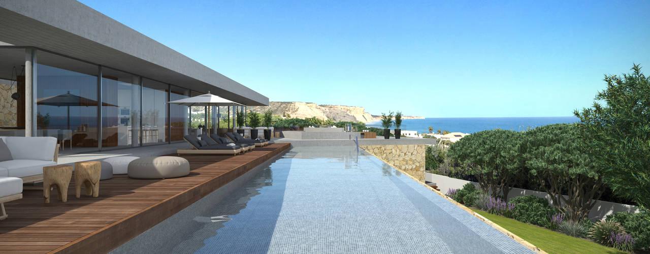 Pool von Areacor, Projectos e Interiores Lda,