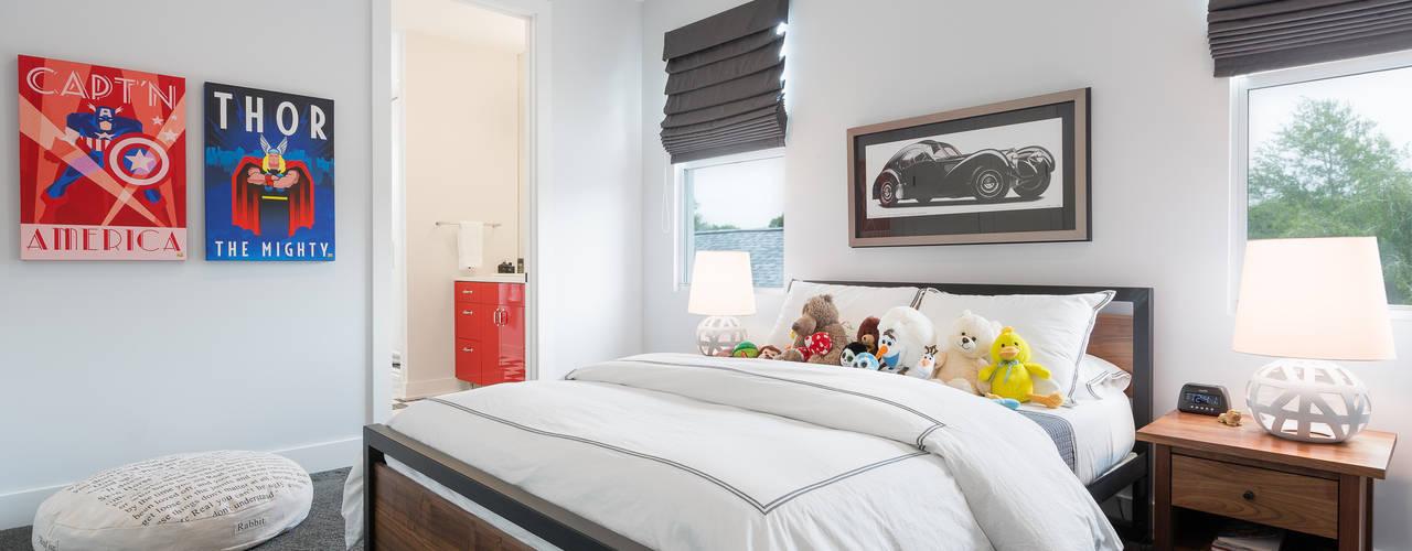Phòng ngủ phong cách hiện đại bởi Chibi Moku Architectural Films Hiện đại