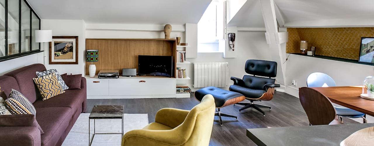 Projekty,  Salon zaprojektowane przez Audrey Boey