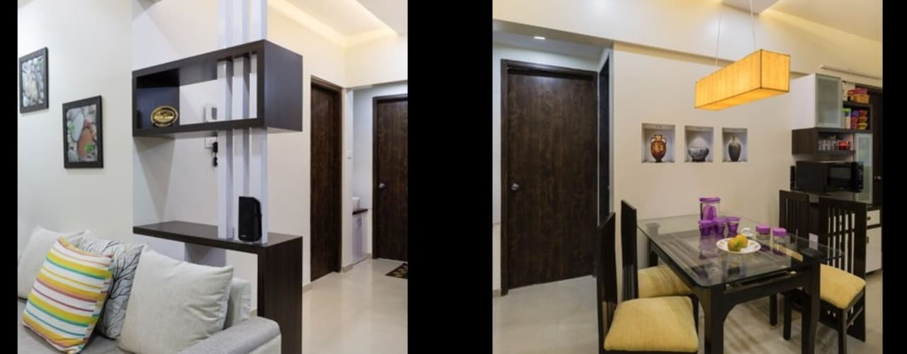 2bhk flat :  Dining room by shubhchintan