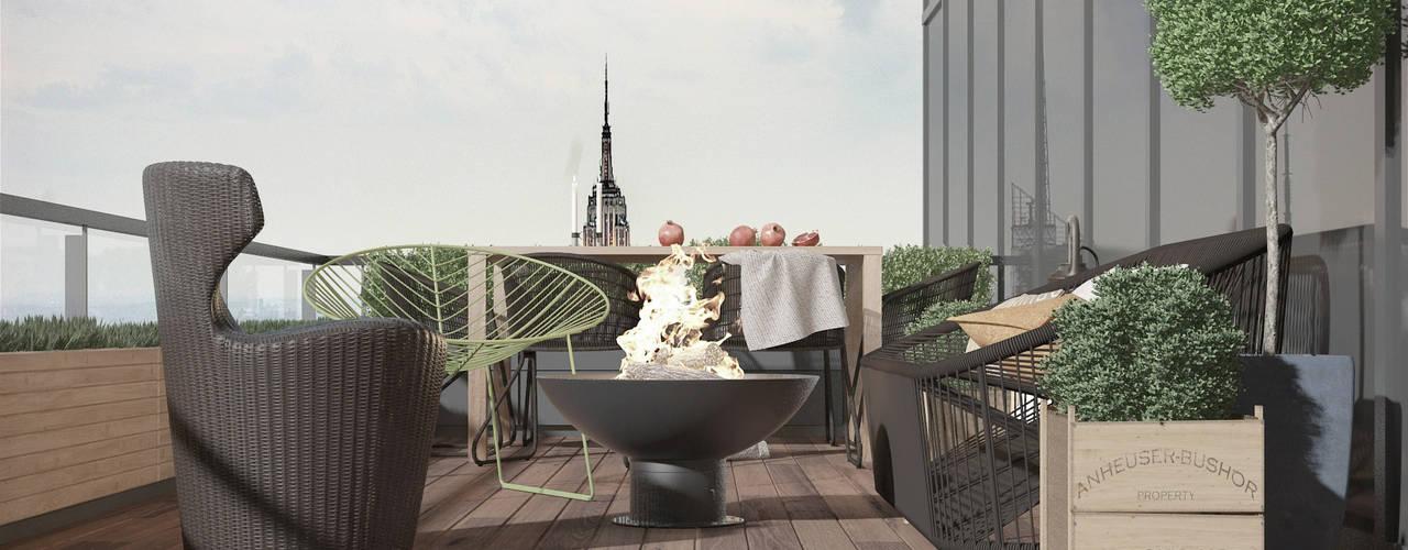 ART Studio Design & Construction Eclectic style balcony, veranda & terrace