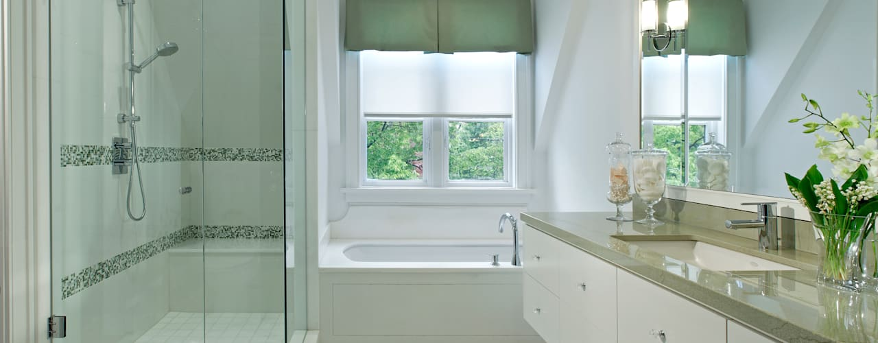 Projekty,  Łazienka zaprojektowane przez Douglas Design Studio