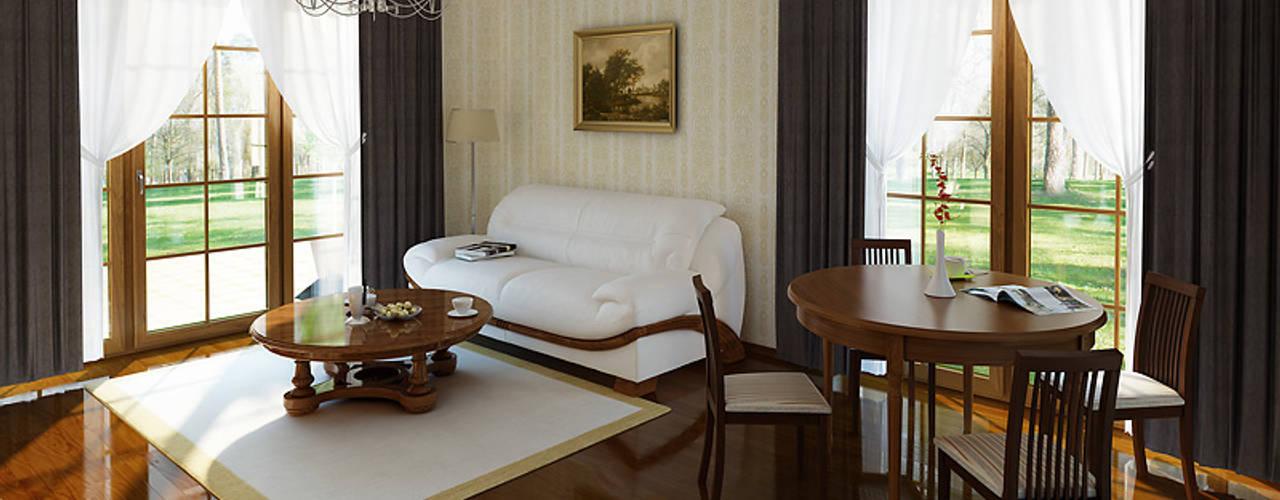 classic Living room by Biuro Projektów MTM Styl - domywstylu.pl