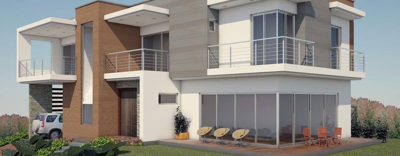 VIVIENDA LINDA GRANJA: Casas de estilo  por G2 ESTUDIO