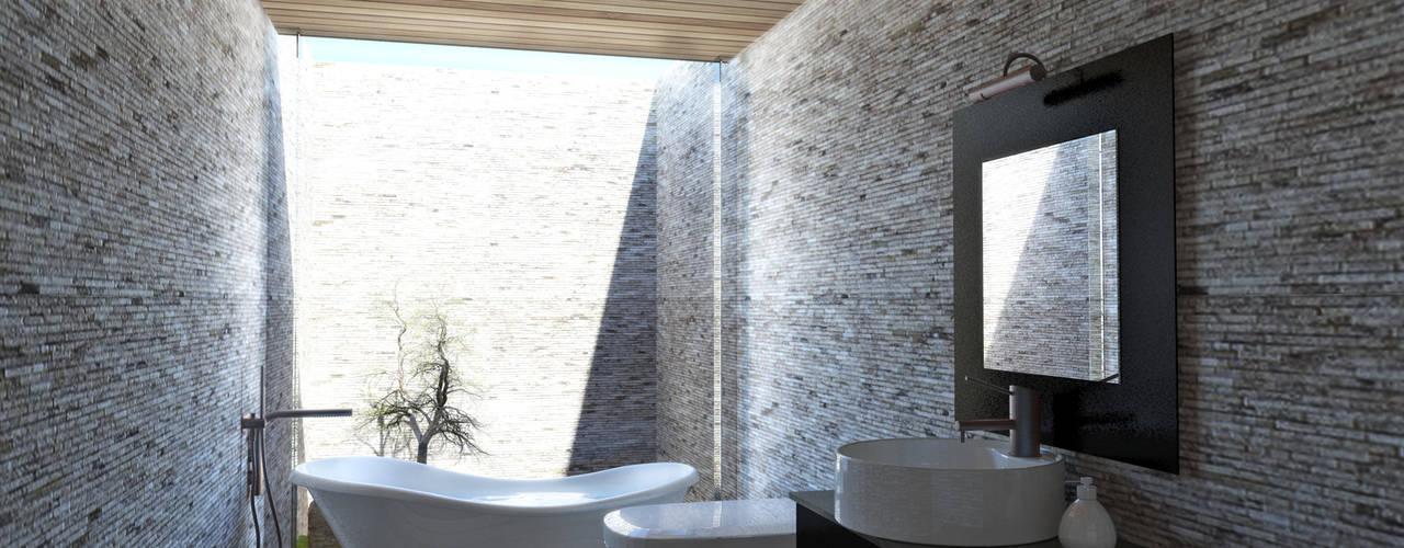 Baños de estilo moderno de NEF Arq. Moderno
